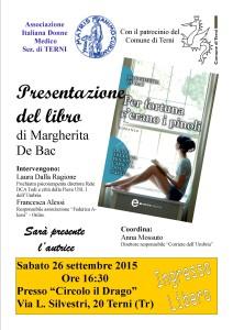locandina presentazione bac FINALE 212x300 - Presentazione del libro di Margherita De Bac - Per fortuna c'erano i pinoli